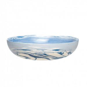 Bol alb/albastru din ceramica 17x4 cm Maurice Hubsch