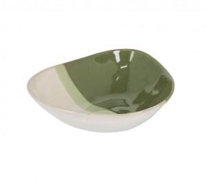 Bol alb/verde din ceramica 19,6x22,4 cm Naara La Forma