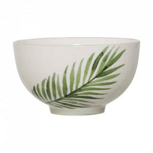 Bol alb/verde din ceramica 350 ml Jade Bloomingville