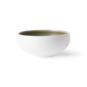 Bol alb/verde din portelan 11 cm Home Chef HK Living