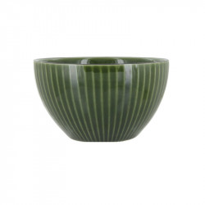 Bol verde din ceramica 13 cm Kristi Lara LifeStyle Home Collection