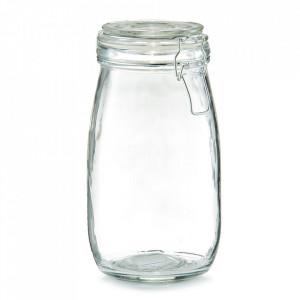 Borcan cu capac transparent din sticla 1450 ml Pulse Zeller