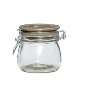 Borcan transparent din sticla 10x11 cm Hubsch