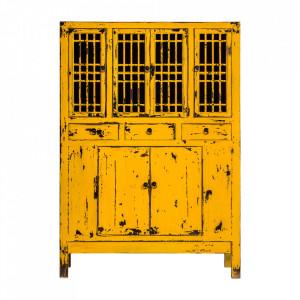 Bufet galben mustar din lemn 170 cm Jinan Vical Home