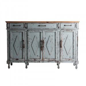 Bufet inferior albastru/maro din lemn 160 cm Siusi Vical Home