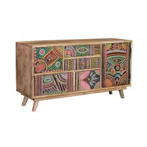 Bufet inferior multicolor din lemn de mango 100 cm Karim Giner y Colomer