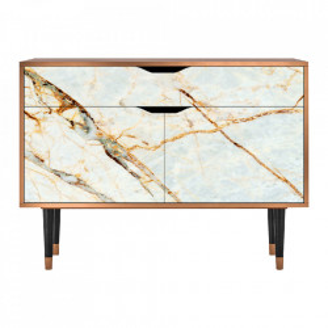 Bufet inferior multicolor din MDF si lemn 115 cm  Sandy Marble Furny