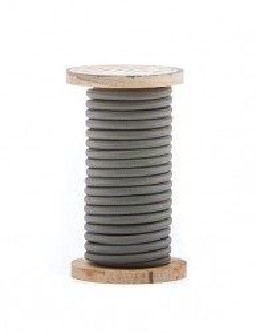 Cablu gri din PVC si bumbac 5 m Philo Grey Seletti