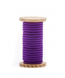 Cablu violet din PVC si bumbac 5 m Philo Violet Seletti