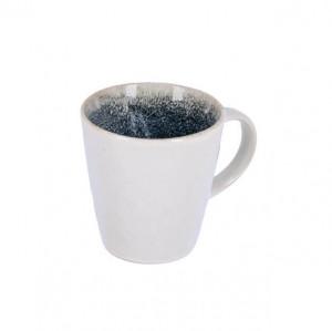 Cana alba/albastra din ceramica 9,5x10,1 cm Sachi La Forma