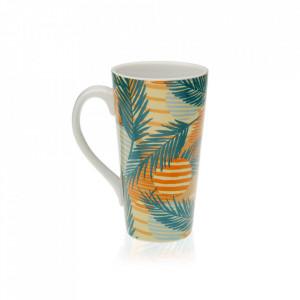 Cana multicolora din portelan 8,5x15 cm Saona Tall Versa Home
