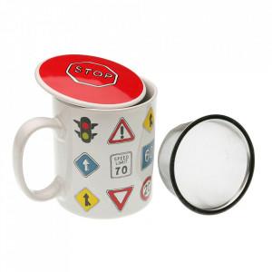 Cana pentru ceai multicolora din ceramica 8x10 cm Traffic Versa Home