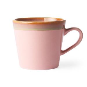 Cana roz din ceramica 300 ml Cappuccino HK Living