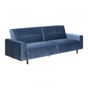 Canapea extensibila albastra/neagra din lemn si poliester 232 cm Casperia Actona Company