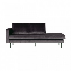 Canapea gri din catifea Rodeo Daybed Left Be Pure Home