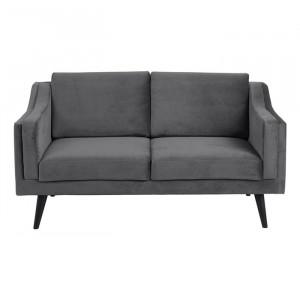 Canapea gri inchis/neagra din lemn si textil pentru 2 persoane Montreal Actona Company