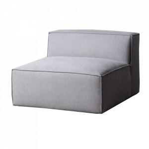 Canapea modulara gri deschis din poliester si placaj 109 cm Kram Ixia