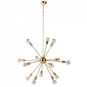 Candelabru auriu din metal cu 14 becuri Sputnik Invicta Interior