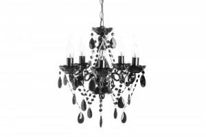 Candelabru negru cu 5 becuri Diamonds S Invicta Interior