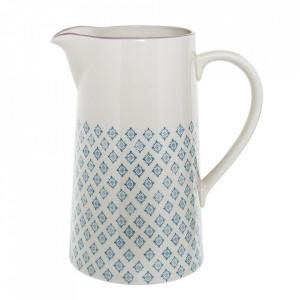 Carafa alba/albastra din ceramica 2 L Patrizia Bloomingville