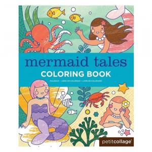 Carte de colorat pentru copii Mermaids Petit Collage