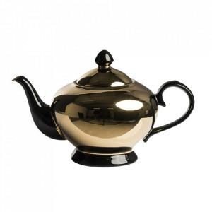 Ceainic auriu/negru din portelan 200 ml Legacy Pols Potten