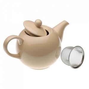 Ceainic crem din ceramica 11x23 cm Tetera Versa Home