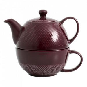 Ceainic mov din ceramica 450 ml Avignon Nordal