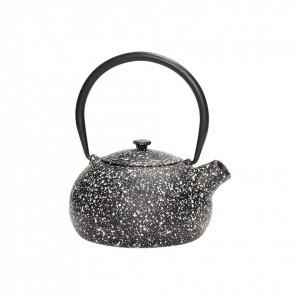 Ceainic negru din metal 800 ml Thea Hubsch