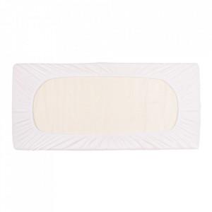 Cearsaf pat alb din bumbac 40x90 cm Ali Jersey Quax