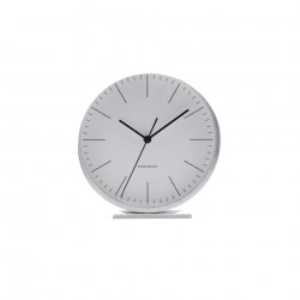 Ceas de masa cu alarma argintiu din aluminiu 9,2 cm Le House Doctor