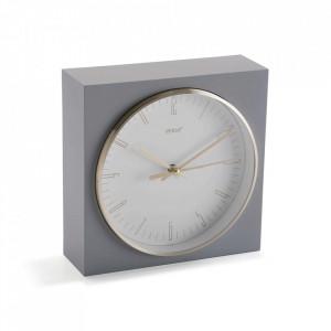 Ceas de masa patrat gri din plastic 16x16 cm Jenna Versa Home