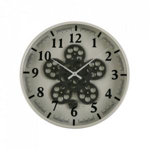 Ceas de perete gri/negru rotund din MDF si metal 36 cm Eros Versa Home