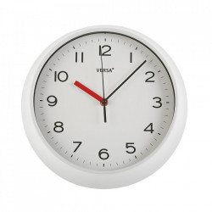 Ceas de perete rotund alb din plastic 29,3 cm Zoe Versa Home