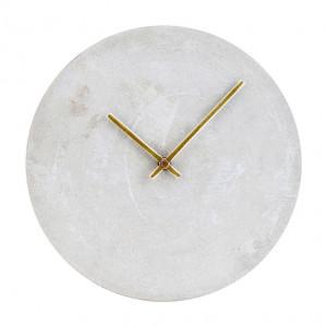 Ceas de perete rotund din beton 28 cm Concrete House Doctor