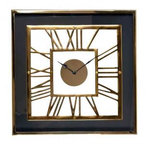 Ceas perete patrat din inox si sticla 46x46 cm Trayson Richmond Interiors
