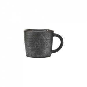 Ceasca neagra/maro din portelan 5,5x6 cm Pion House Doctor