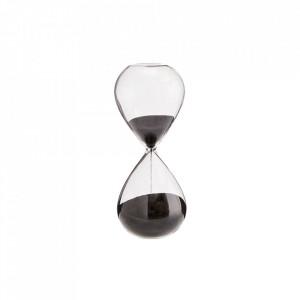 Clepsidra transparenta/neagra din sticla 16 cm Black Hourglass Medium Madam Stoltz