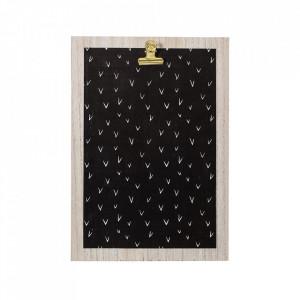 Clipboard negru/maro din MDF 24x34 cm Nature Bloomingville