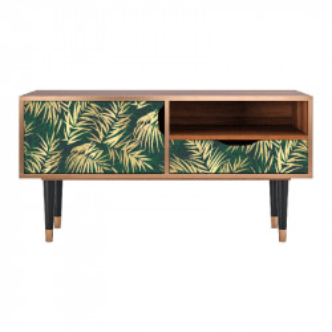 Comoda TV multicolora din MDF si lemn 114,2 cm Sunny Palm Tree Sara Furny