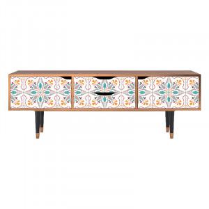 Comoda TV multicolora din MDF si lemn 170 cm Spring Ceramics Eve Furny