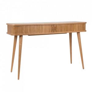 Consola maro din MDF si lemn de frasin 120 cm Barbier Zuiver