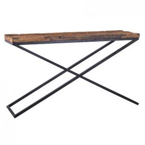 Consola maro/neagra din lemn si otel 140 cm Industrial Kensington Richmond Interiors
