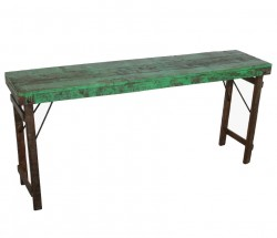 Consola verde/maro din lemn 165 cm Forest Raw Materials