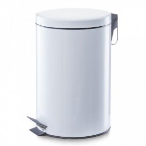 Cos de gunoi alb din metal 12 L Home Pedal Bin Mini Zeller