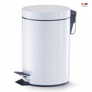 Cos de gunoi alb din metal 3 L Pedal Bin White Zeller