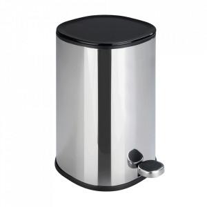 Cos de gunoi argintiu din inox 5 L Nant Wenko