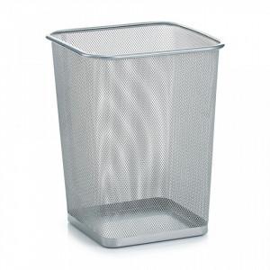 Cos de gunoi gri din metal 26,8x35,5 cm pentru birou Mesh Paper Trash Square Zeller