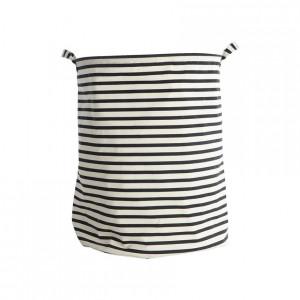 Cos de rufe alb/negru din bumbac si poliester 40x50 cm Stripes House Doctor