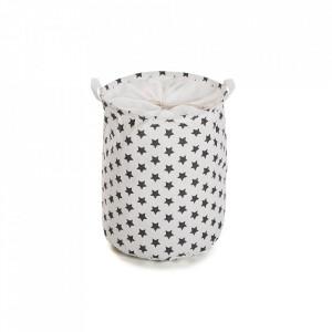 Cos de rufe alb/negru din poliester 38x48 cm Black Stars Laundry Versa Home